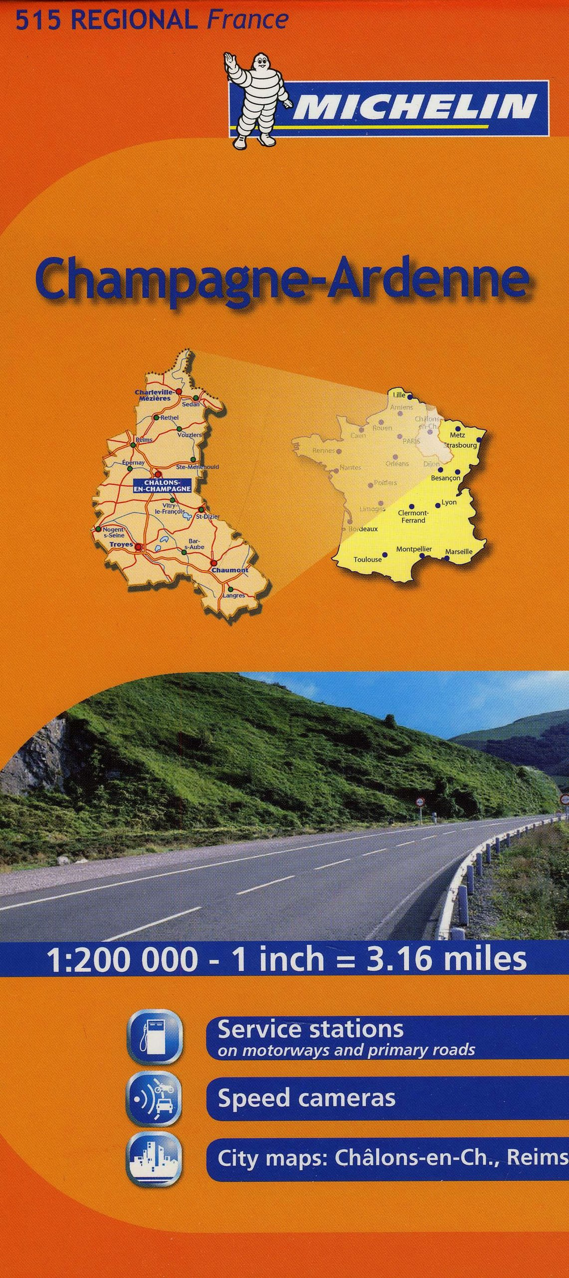 Regional Map Of France In English.Michelin Map France Champagne Ardenne 515 Maps Regional Michelin