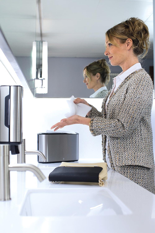 Papiertuchspender f/ür hygienische Einzeltuchentnahme aus Edelstahl Tork 460005 Xpress Tischspender f/ür H2 Multifold Handt/ücher im Image Design