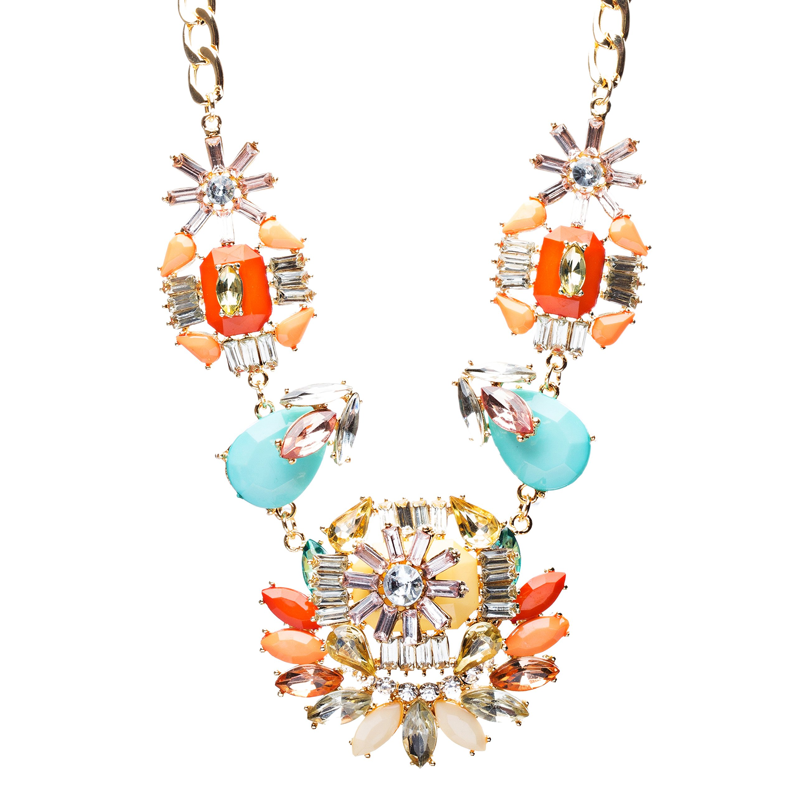 Audacious Design Crystal Rhinestone Fascinating Arrangement Necklace Set N76 MT