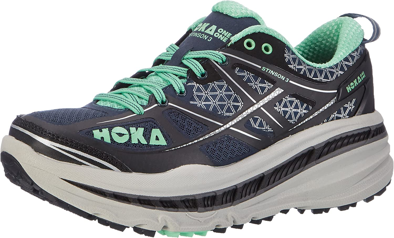 Hoka One One Stinson 3 ATR, Zapatillas de Running para Asfalto para Mujer, Azul (Midnight Navy/Spring Bud), 40 2/3 EU: Amazon.es: Zapatos y complementos