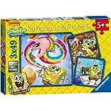Ravensburger Spongebob Squarepants 3x 49pc Jigsaw Puzzles
