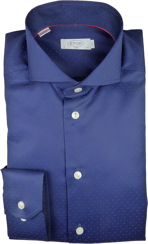 Eton - Camisa formal - Cutaway - para hombre azul oscuro 40 ...