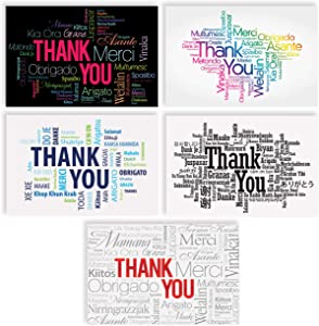 Thank You Cards with Envelopes (100 Pack), 4 Cover Designs, Blank Inside, by Better Office Products, All Occasions, Baby Showers, Graduation, and Weddings, Modern Global Collection, 100 Pack