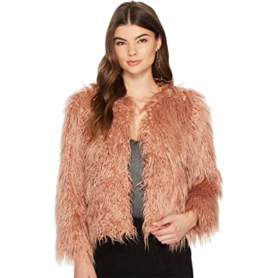 1.STATE Womens Cropped Faux Fur Jacket