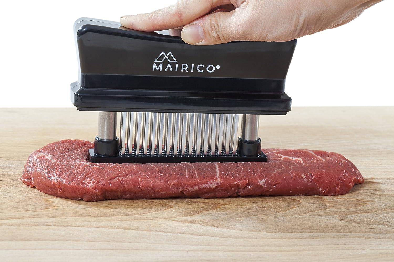 MAIRICO Premium Meat Tenderizer Lamb and more 48 Razor Sharp Blades for Tenderizing Beef Pork Chicken