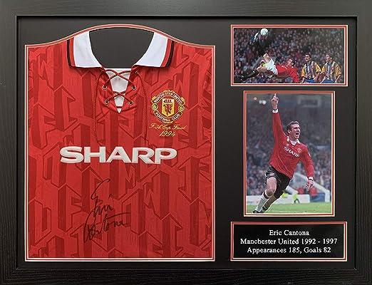 Allstarsignings Eric, Cantona Camisa de Manchester United firmada y enmarcada en 1994