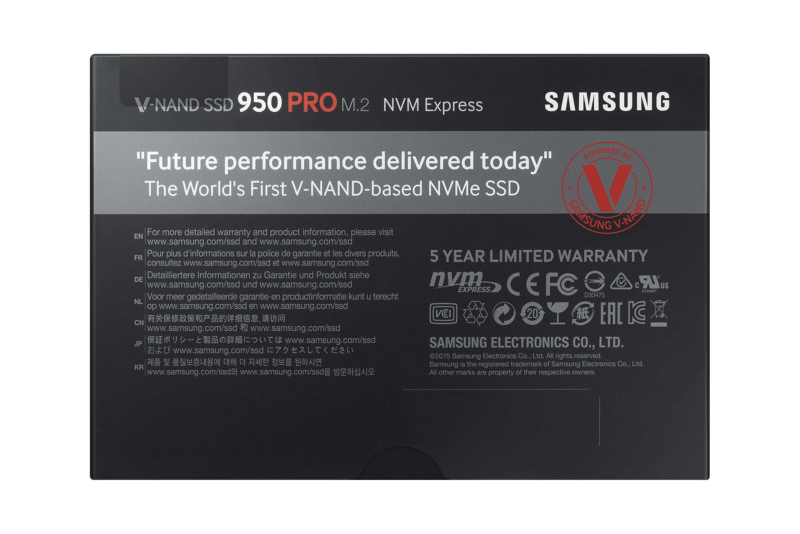 Samsung 950 PRO Series - 512GB PCIe NVMe - M.2 Internal SSD (MZ-V5P512BW) by Samsung (Image #5)