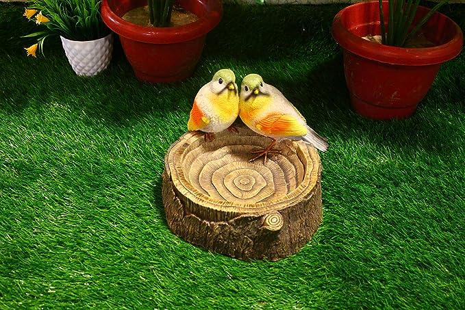 Wonderland Decorative Resin Love Bird Feeder/Bird Bath (Home Decor, Garden Decor, Gift Item, Balcony)