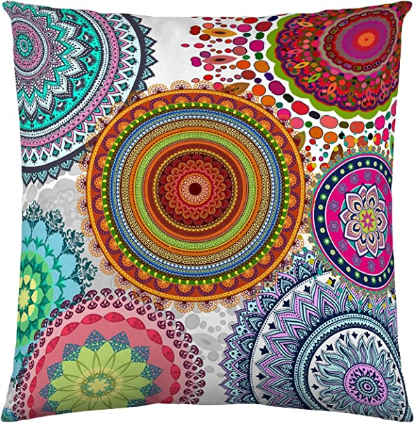 NATURALS Freya Funda de cojín, Algod&Oacuten, Multicolor, 60 x 60 cm: Amazon.es: Hogar