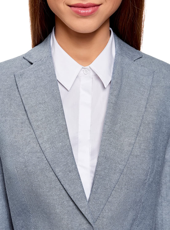 oodji Collection Mujer Chaqueta de Tejido Texturizado con Cintur/ón Ancho