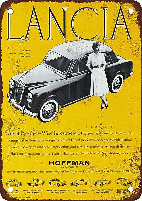 Lancia Hoffman - Letrero de aspecto vintage, 20,3 x 30,4 cm, decoración para el hogar, cocina, baño, granja, jardín, garaje, citas inspiradoras, decoración de pared