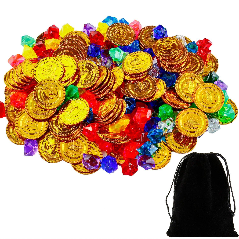 Plastic Gold Gemstone Gem Pirate Ring Party Favour Prop Decoration Fancy Dress