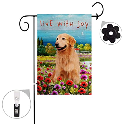 Charmant Bonsai Tree Burlap Golden Retriever Spring Garden Flags 12x18 Prime  Double Sided Dog Yard Outdoor