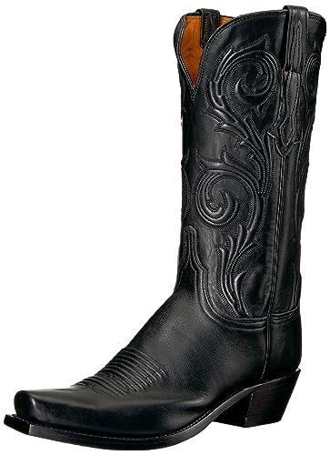 dcdb2832eb6 Amazon.com | Lucchese Bootmaker Women's Nicole Western Boot Black ...