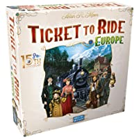 Ticket to Ride Europe Board Game 15th Anniversary Deluxe Edition   Family Board Game   Train Game   Ages 8+   For 2 to 5 players   Average Playtime 30-60 minutes   Made by Days of Wonder