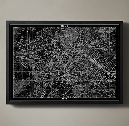 Amazon.com: Rome Map Print, Wall Art for your Home or office Decor ...