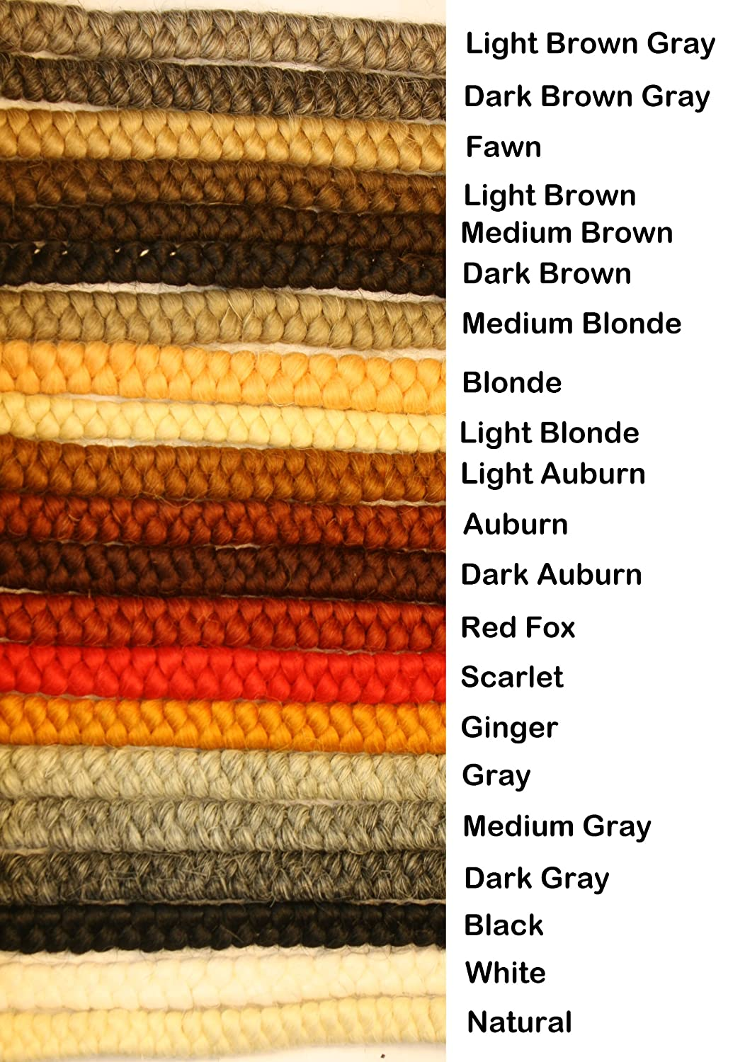 Crepe Wool Hair- Fawn Color for Doll Making or Theatrical Uses (False Beard or Mustache) fawnch