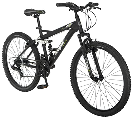 Amazon Com Mongoose Mens Status 2 2 Full Suspension Bicycle 26