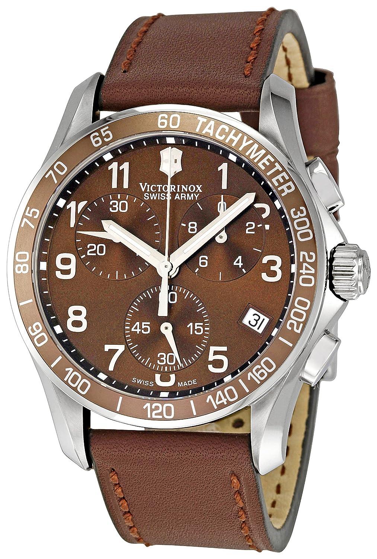 victorinox swiss army men s 241151 chrono classic brown dial watch victorinox swiss army men s 241151 chrono classic brown dial watch victorinox swiss army amazon co uk watches