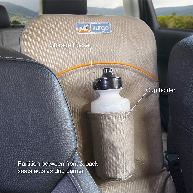 R/ésistant /à l/'eau Robuste R/éversible 45 kg Kurgo S/éparation et prolongement de banquette arri/ère de voiture pour chien Noir//Beige Adapt/é /à la plupart des voitures et SUV Pour chien de max