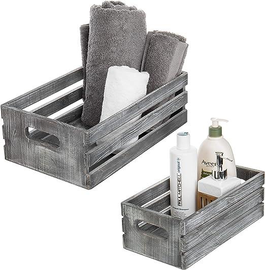 Amazon.com: MyGift - Cajas de madera envejecida, cajas de ...
