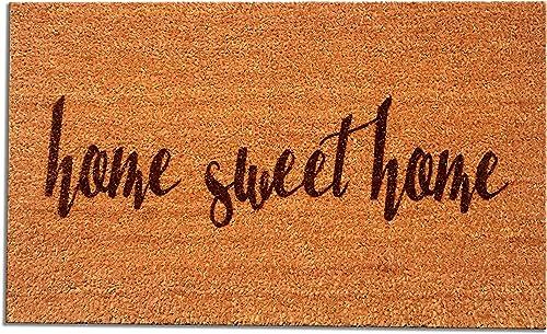 Coir Fiber Laser Engraved Doormat 30 x 18 Home Sweet Home