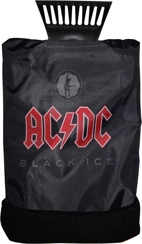 AC//DC ACDC adwaa270/Voiture Grattoir /à Glace Glace grattoir avec Gant de Toilette Noir