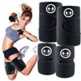 1H1K Sports Arm Trimmers Thigh Trimmers for Weight Loss (4 Pack Set)   Arm and Thigh Sweat Shaper Bands for Women and Men   I