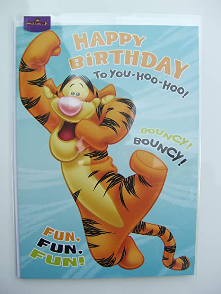 Disney Tigger Birthday Card By Hallmark Amazon Kitchen Home