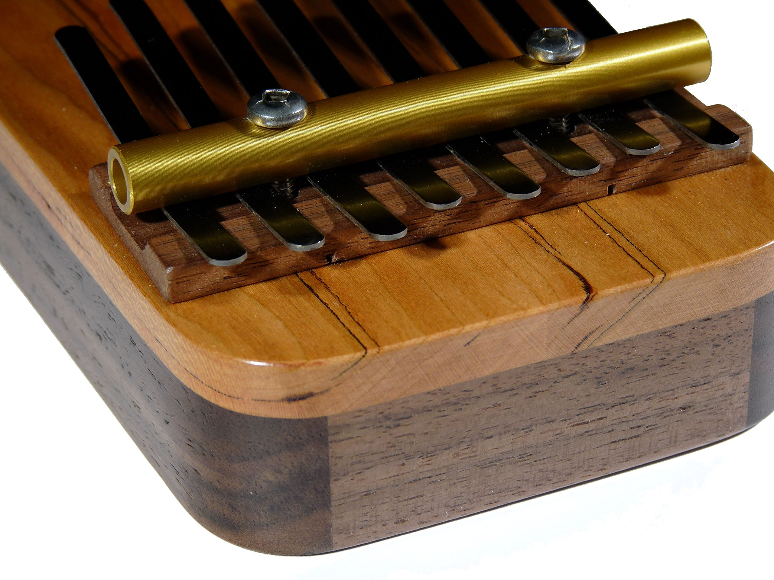 Zither Heaven Artisan Pentatonic 8 Note Black Walnut w/Cherry top Thumb Piano made in the USA by Zither Heaven (Image #4)
