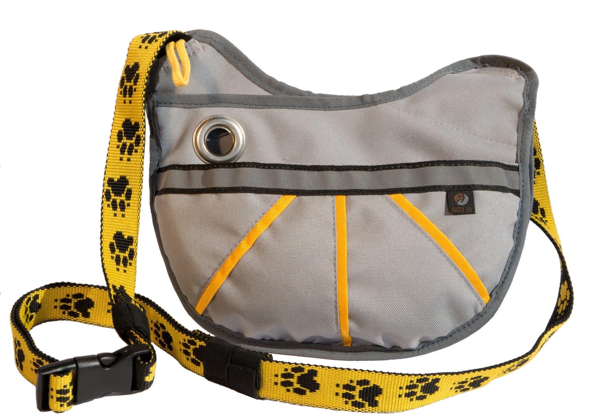 FUZZY JAY Agility Training Bag - Dog Treat Pouch (grey/yellow)