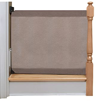 The Stair Barrier Baby And Pet Gate U2013 Wall To Banister  Retractable Fabric
