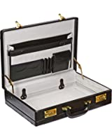 Attache Briefcase Leather Look Pu Case Expanding Executive Business Bag