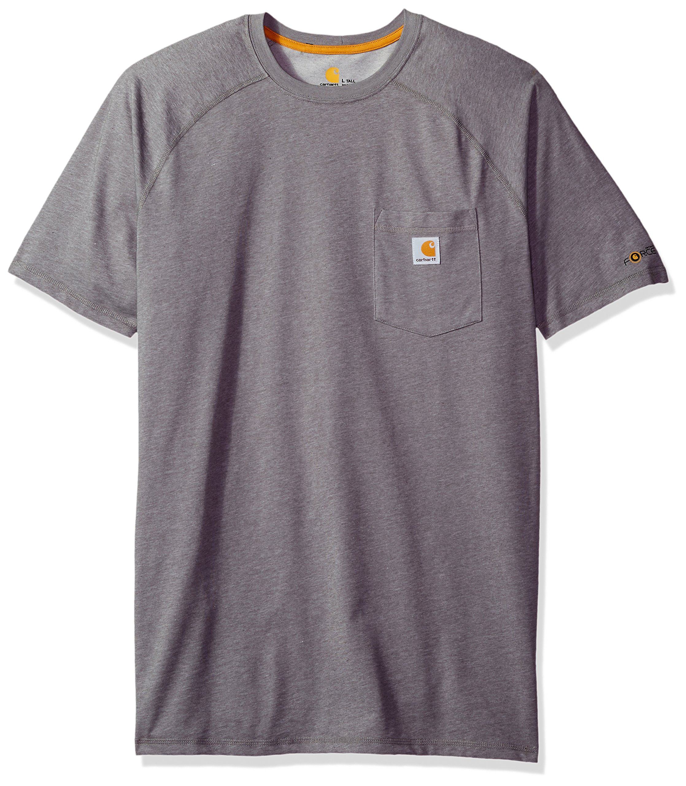 Carhartt Men's Big Force Cotton Short Sleeve T-Shirt Relaxed Fit, Granite Heather, 3X-Large/Tall
