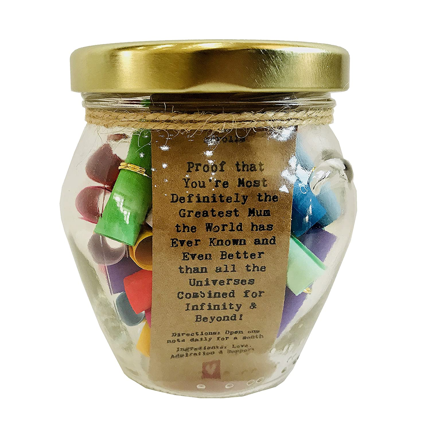 A Special Present for Mum - Proof that You're Most Definitely the Greatest Mum the World Has Ever Known and Even Better than all the Universes Combined for Infinity & Beyond – Little Jar of Big Ideas - Thoughtful Gift - Unique Present - Artisan Handcr