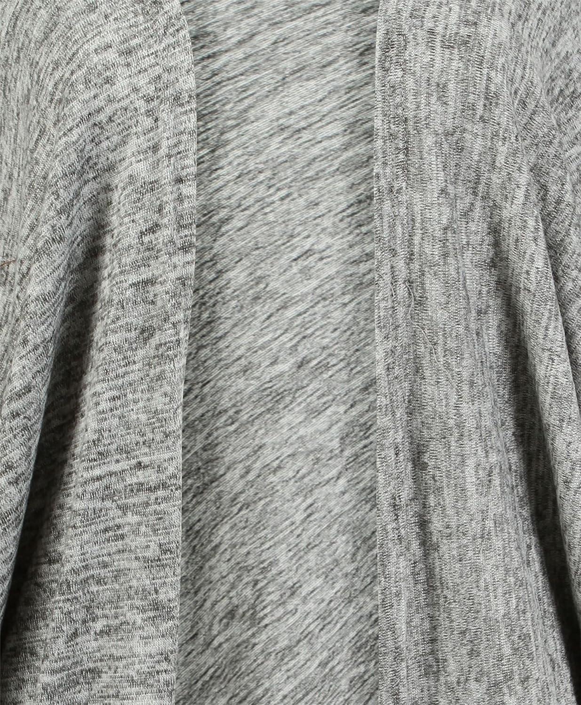 LOTMART Donna Maniche a Pipistrello Coprispalle Kimono Donna Apri Cardigan Lungo Orlo Svasato