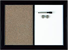 Quartet Espresso Magnetic Home Decor Combo Board, Dry Erase and Bulletin Board, Wood, 17 X 23 Inches (3413803834)