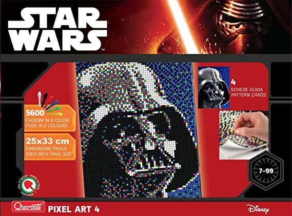 Quercetti 0855 Steckspiel Pixel Art Star Wars 4 Darth Vader