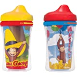 NUK Gerber Graduates Curious George Insulated Hard Spout Sippy Cup, 9-Ounce, 2-Pack