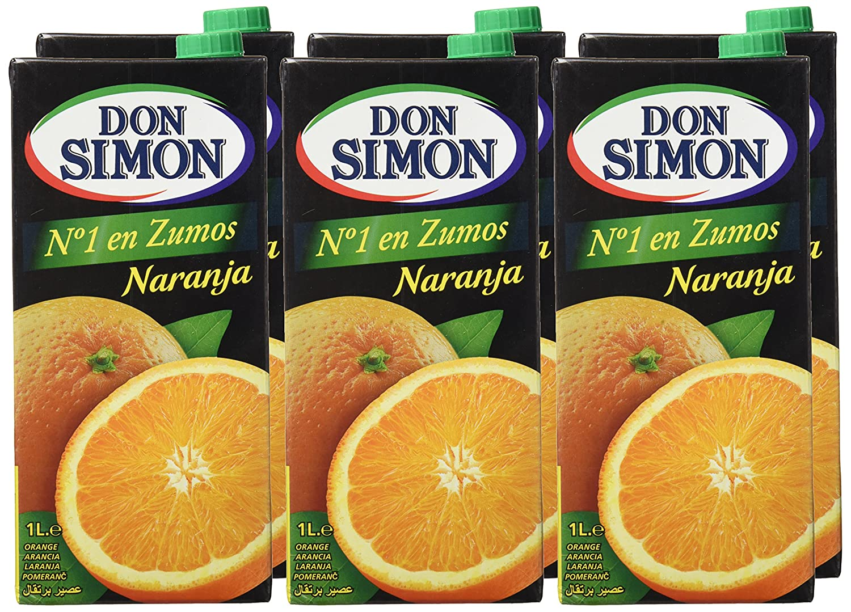 Don Simon - Zumo de Naranja, 1 L - , Pack de 6: Amazon.es: Alimentación y bebidas