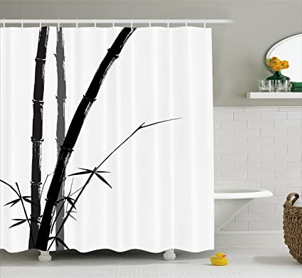 Amazon.com: Ambesonne Exotic Shower Curtain, Feng Shui Watercolor ...