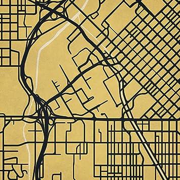 University Of Colorado Denver Campus Map.Amazon Com City Prints University Of Colorado Denver Campus Map Art