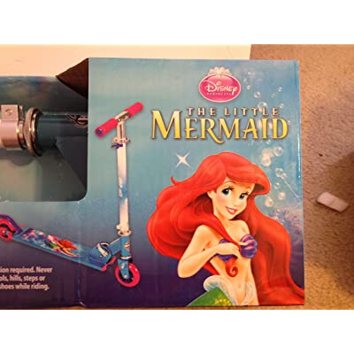 Big Way Bargains Little Mermaid Folding Scooter : Sports & Outdoors