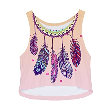 a665d1a4bb31 The Christmas Outfit Crop Top Women's Girls Teenager Fashion Vest Tank Top  Summer Party Holiday 8