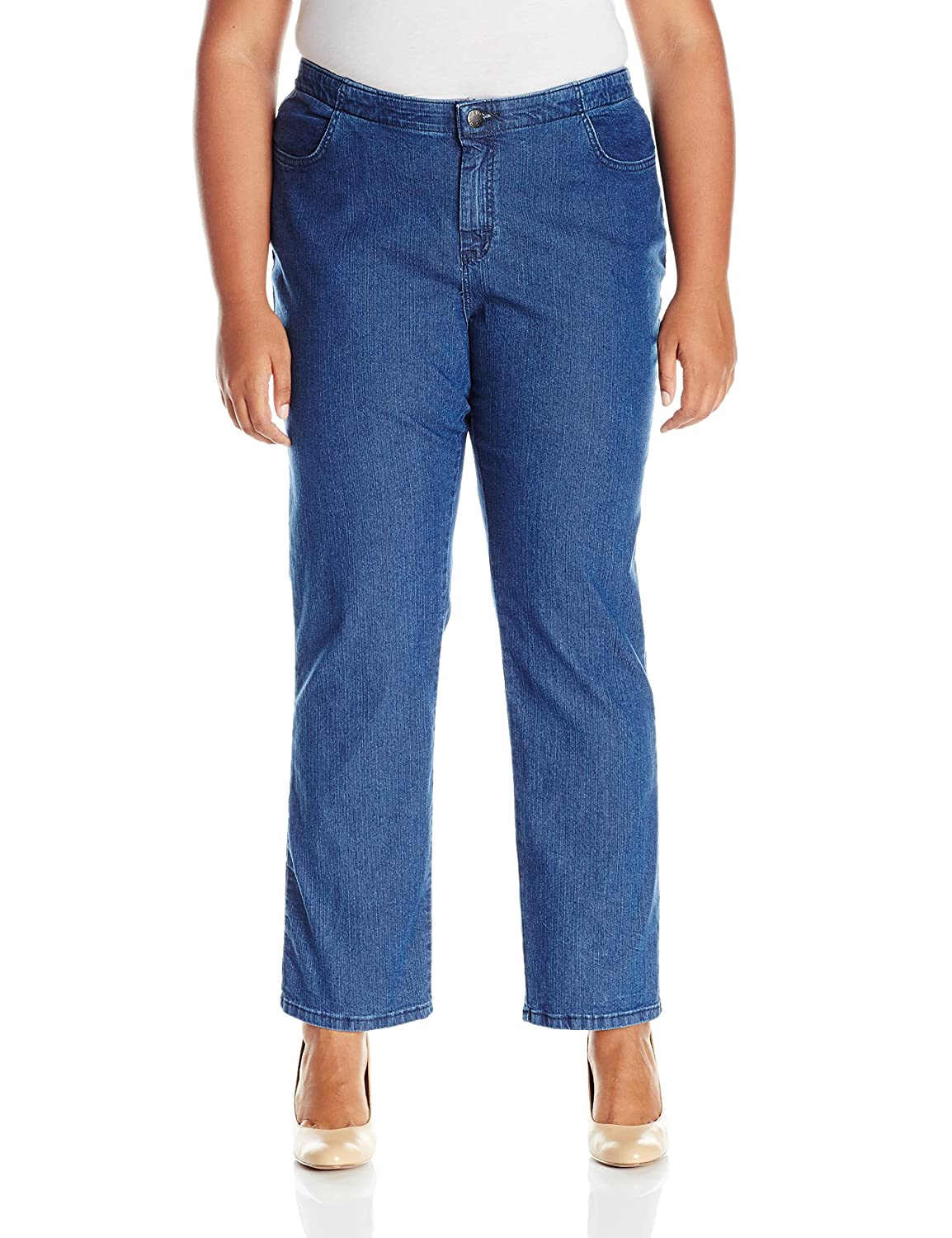 27ae1d266a66c Riders by Lee Indigo Womens Plus-Size Comfort Collection Straight Leg Jean   Amazon.ca  Clothing   Accessories