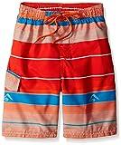 Kanu Surf Boys' Little Quick Dry UPF 50+ Beach Swim Trunk, Specter Orange, Large (7)