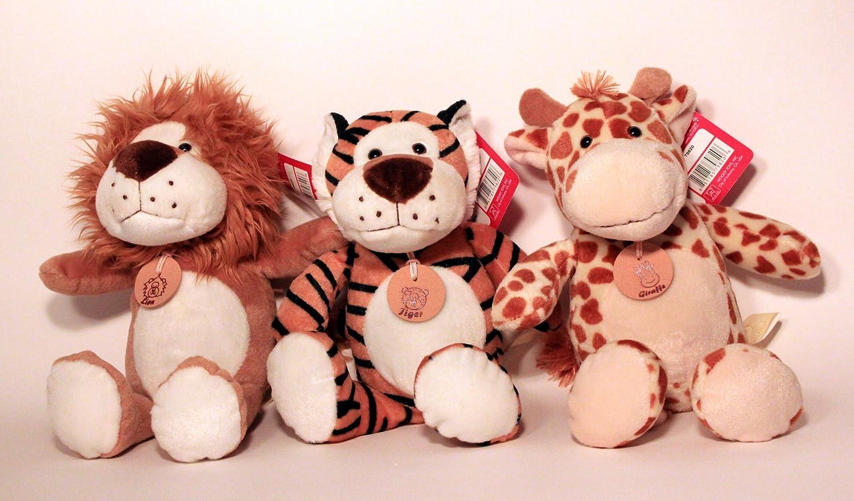 Amazon Com 3 Pack 8 Jungle Animal Plush Set Includes Tiger