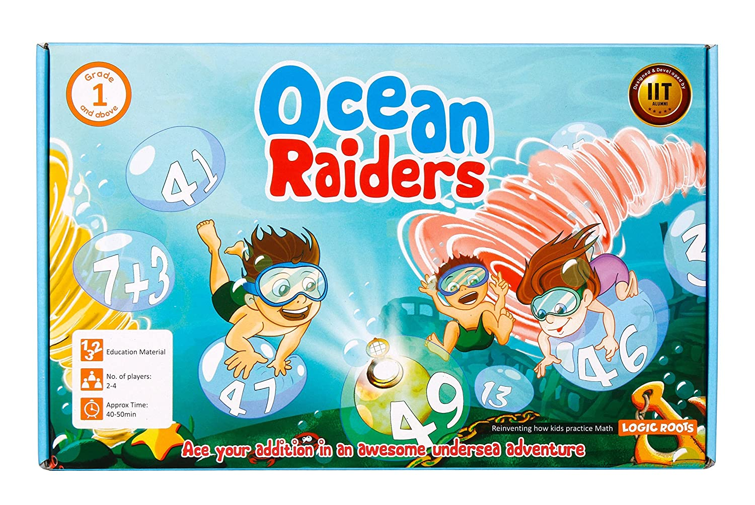 OCEAN RAIDERS addition board game for beginners STEM toy Maths ...