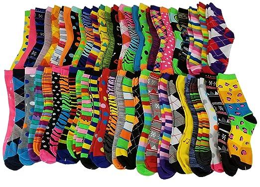 Sumona 50 Pairs Wholesale lots Women Bright Colorful Design