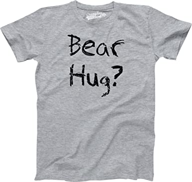 c3ba9d5b1 Youth Grizzly Bear T Shirt Funny Bear Hug Shirt Humorous T Shirt Novelty  Tees (Grey) M: Amazon.co.uk: Clothing